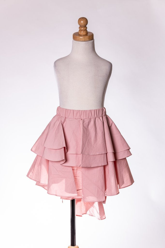 BLUSH SUPER RUFFLE SKIRT ML