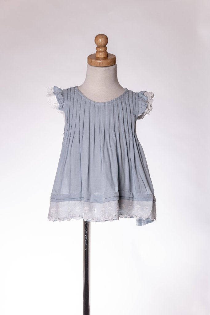 BLUE RUFFLE DRESS SHIRT ML