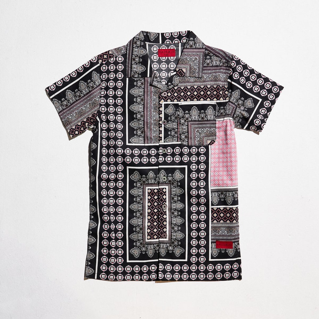 BREEZE BUTTON UP BLACK/ PINK