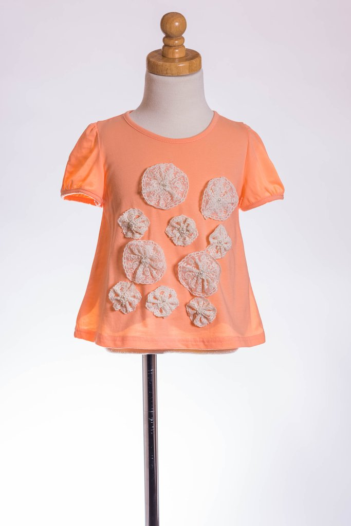 CORAL PIN WHEEL TEE ML
