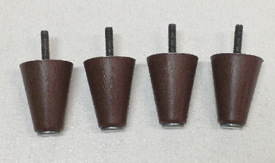 Tapered Furniture Legs Feet Chair Couch Sofa PLASTIC Brown (4 legs) 2-1/4