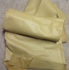 B51 Leather Cow Hide Cowhide Upholstery Craft Fabric Embossed Toasty Tan