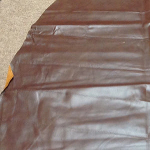 A73 Leather Pig Hide Pigskin Upholstery Craft Fabric Brown 14 sq ft to 19 sq ft