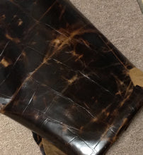 BR708 Leather Cow Hide Cowhide Upholstery Craft Fabric Embossed Turtle Brown 55