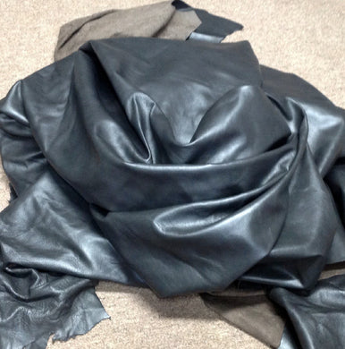 BR716 Leather Cow Hide Cowhide Upholstery Craft Fabric Slate Gray 54 sq ft