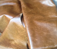 BR721 Leather Cow Hide Cowhide Upholstery Craft Fabric Pull Up Capri Olive Brown