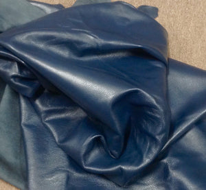 BR812 Leather Cow Hide Cowhide Upholstery Craft Fabric Berry Blue Brahma