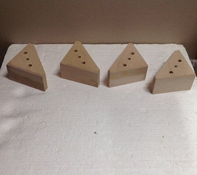 Unfinished Triangle Block Furniture Feet Sofa Chair Couch Maple (4 legs) 2