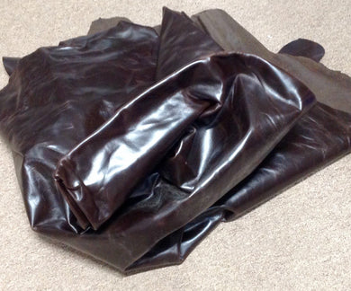 N21 Leather Cow Hide Cowhide Upholstery Craft Fabric Chocolate Brown
