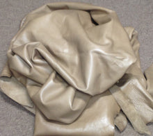 WS13 Leather Cow Hide Cowhide Upholstery Craft Fabric Neutral Taupe Brown