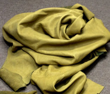 WS14 Leather Cow Hide Cowhide Upholstery Craft Fabric Dark Lemon Yellow Italian