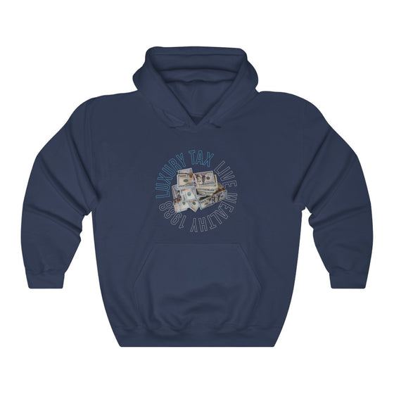 Money Make The World Go Around Hoodie in Navy