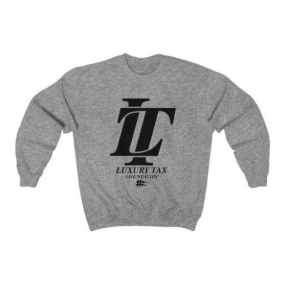 Luxury Tax Logo Sweatshirt in Sport Grey