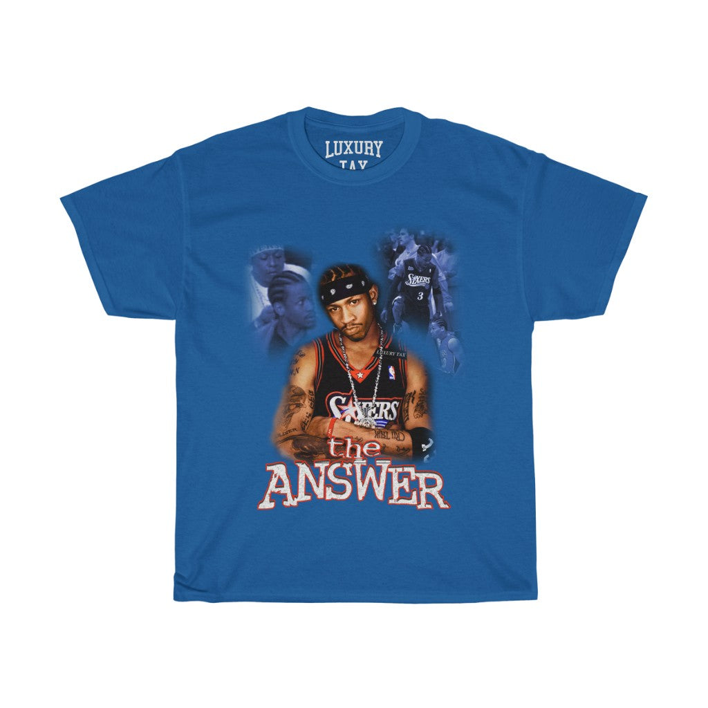 The Answer T-Shirt in Royal Blue