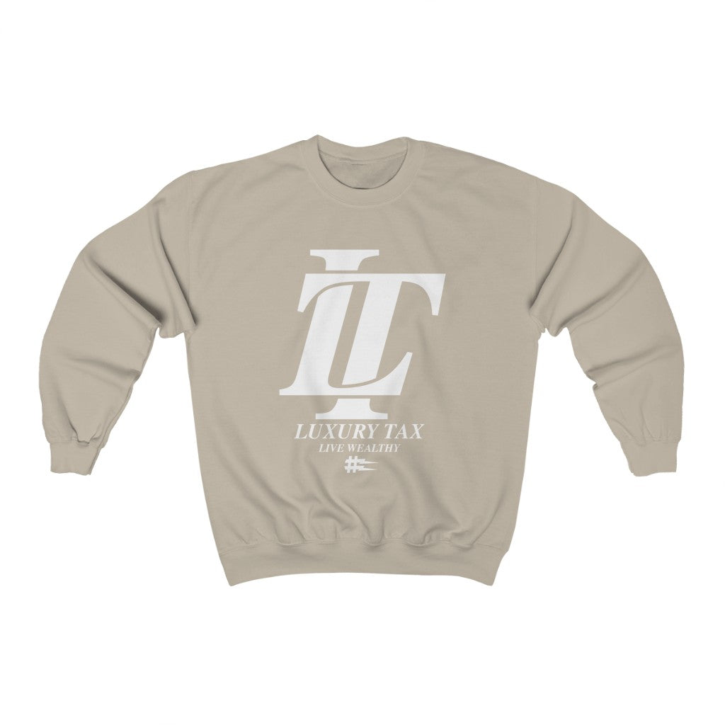 Luxury Tax Logo Sweatshirt in Sand