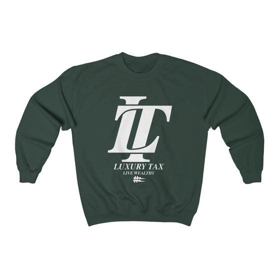 Luxury Tax Logo Sweatshirt in Forest Green