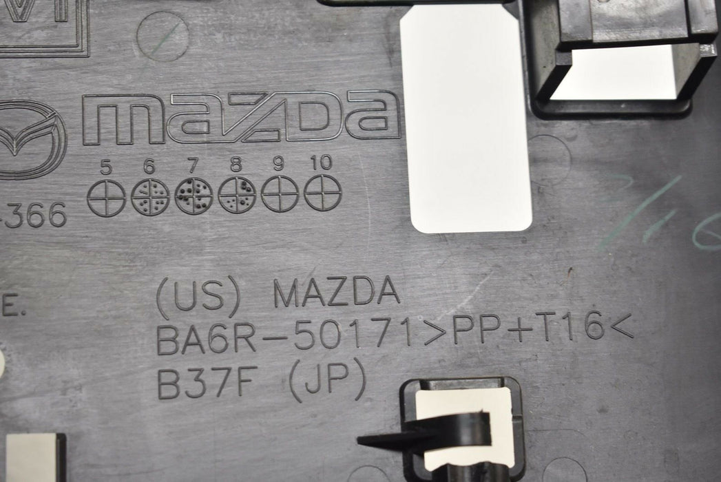 07-09 Mazdaspeed3 License Plate Cover 2007-2009