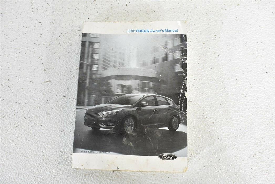 2016 Ford Focus ST Owner's Manual OEM 16