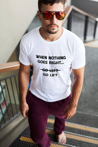 When Nothing Goes Right... Go Lift - Men's Triblend T-shirt