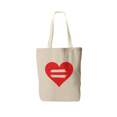 Equality Heart Tote Bag - Gay Pride