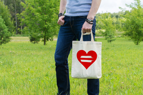 Equality Heart - Canvas Tote Bag