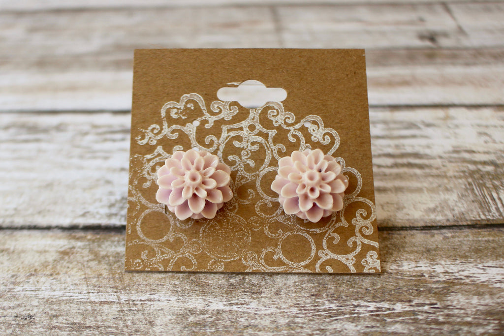Pale Champagne Pink Earrings - Pale Champagne Pink Earrings