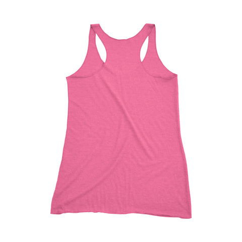 Small Kettle Belle Tank - Pink and White Tank - Ready to Ship - Workout Tank - Racerback Tank - kettlebell tank