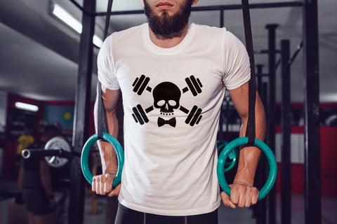 Skull Barbell Tee - Skull & Barbells Tee  - Fitness Tank - Workout Shirt- Gym Shirt - Weightlifting T-shirt - Functional Fitness Shirt
