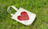 Heart Mandala - Canvas Tote Bag