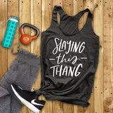 Slaying This Thang - Women's Triblend Tank Top