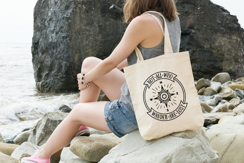 Not All Who Wander Are Lost Tote - Adventure Tote Bag