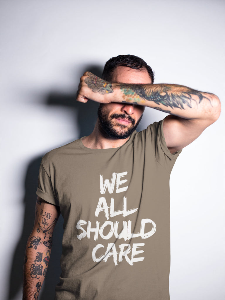 Donation - We All Should Care - Men's Triblend Tshirt