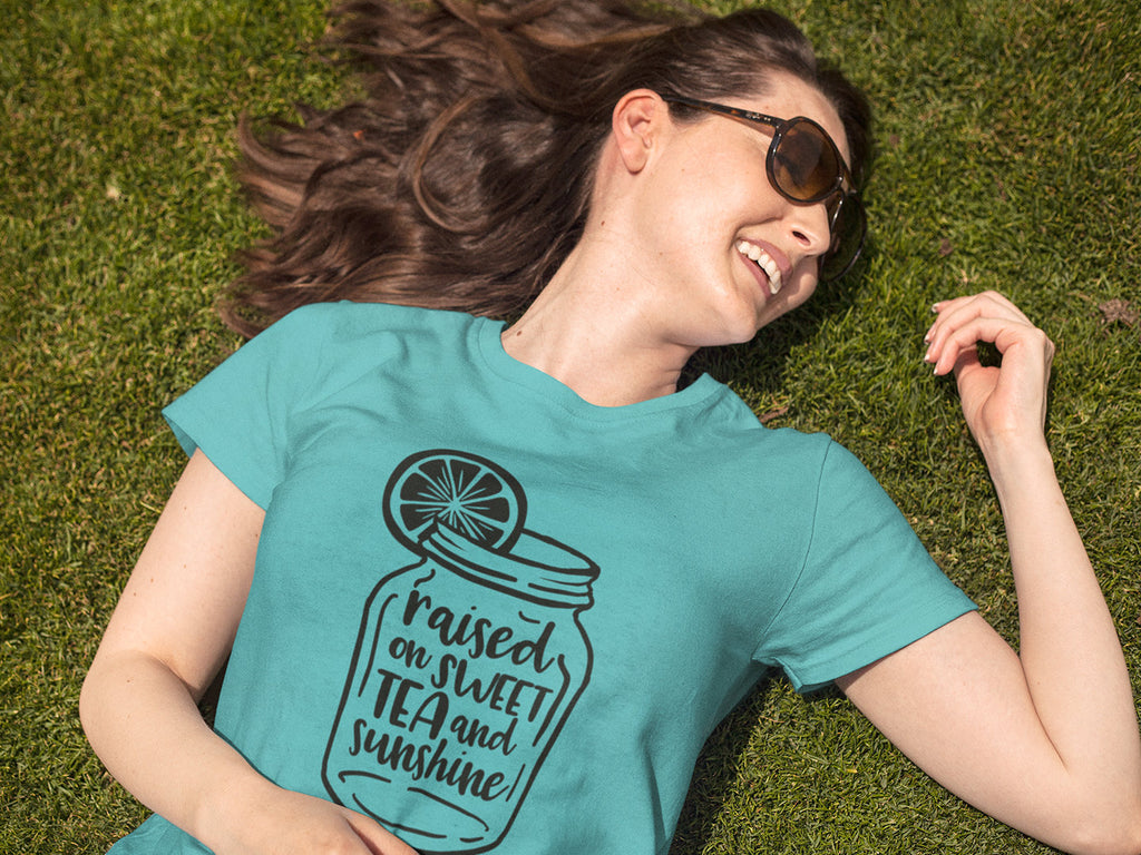 Raised on Sweet Tea and Sunshine - Women's Triblend Tshirt