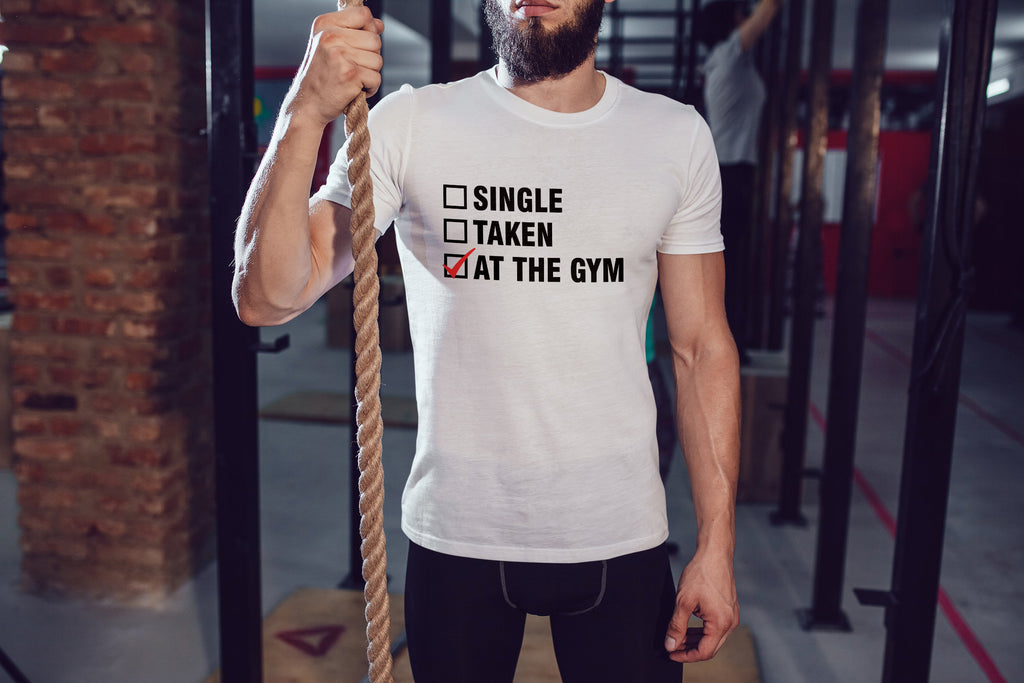 Gym Relationship Status - Men's Triblend Tshirt