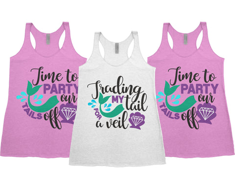 Trading My Tail for a Veil - Bachelorette Party Tank Top