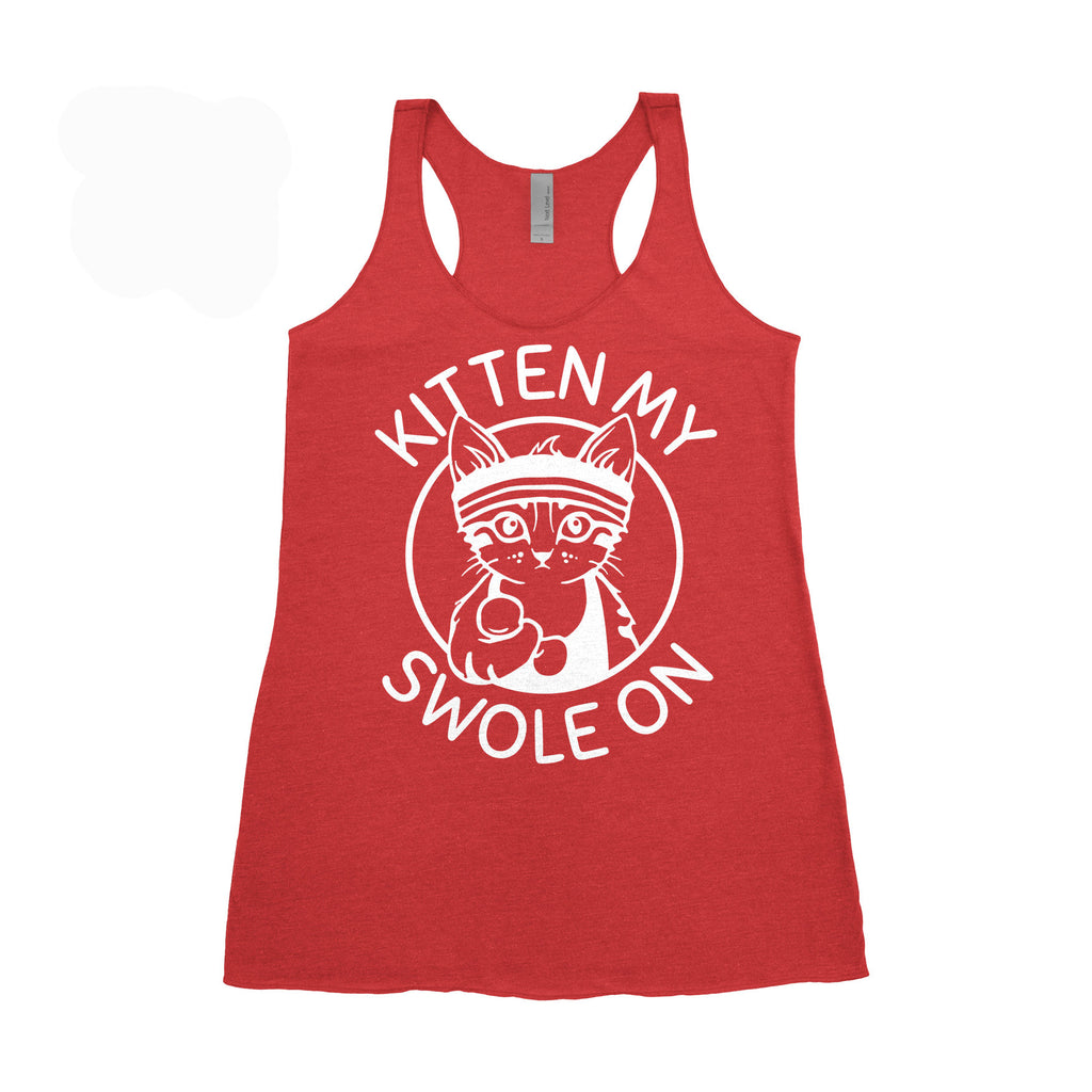 XXL Women's Tank - Kitten My Swole On Tank