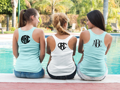 Add On - Custom Monogram Back - Add Monogram to Any Shirt - Customized - Monogram