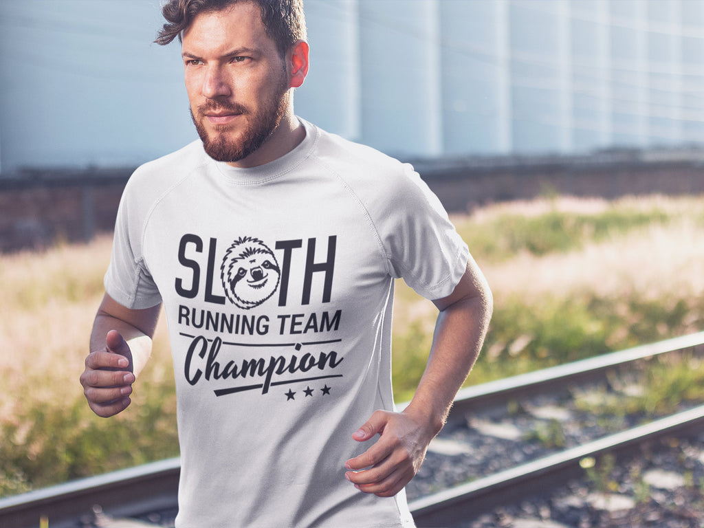 Sloth Running Team Champion - Men's Triblend T-shirt