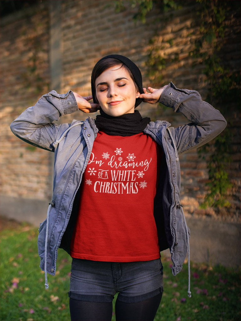White Christmas Tee - I'm Dreaming of a White Christmas