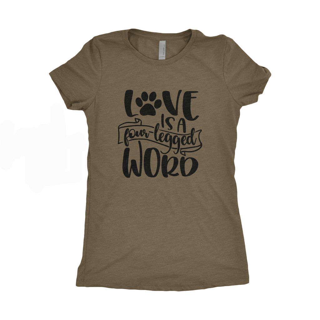 Medium Women's Tee - Love is a Four Legged Word Tee
