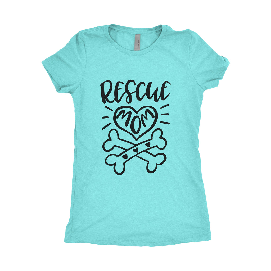 Medium Women's Tee - Rescue Mom Tee - Ready to Ship - Dog Lover Gift - Dog Lover - Dog Mom - Fur Mom - Dog Owner Gift - Dog Tshirt