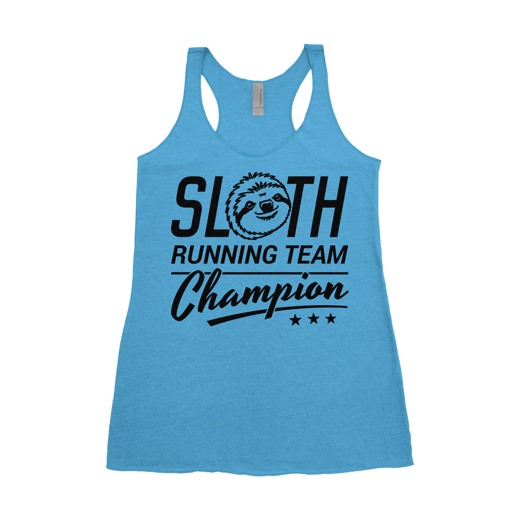 Small Women's Tank - Sloth Running Team Champion