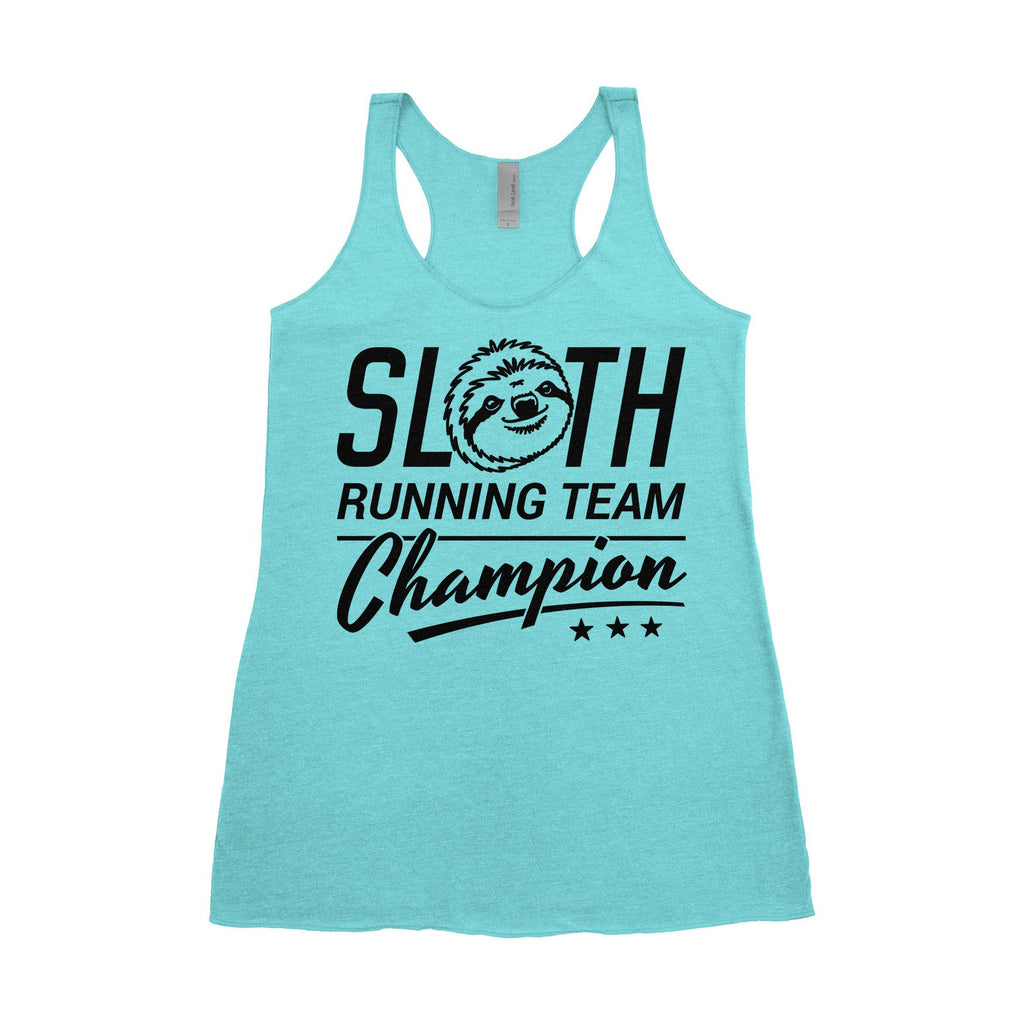 Large Women's Tank - Sloth Running Team Champion
