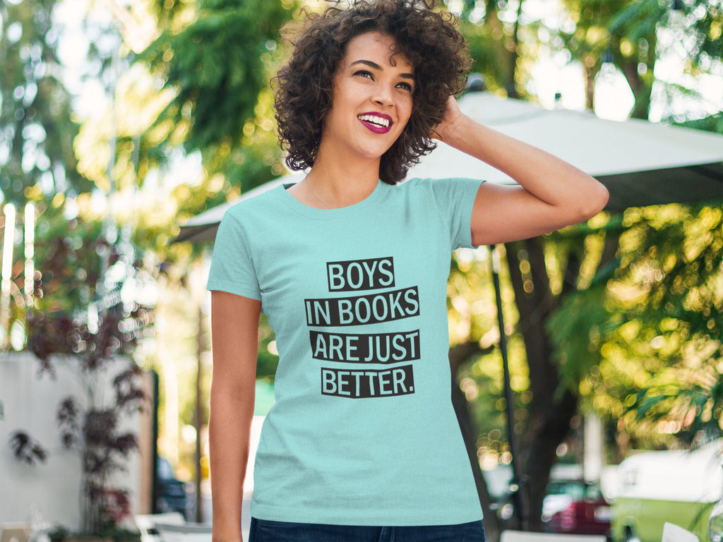 Boys in Books are Just Better - Women's Triblend Tshirt
