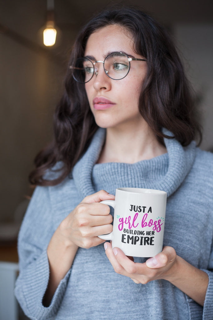 Just a Girl Boss Building Her Empire Mug, Entrepreneur Coffee Mug