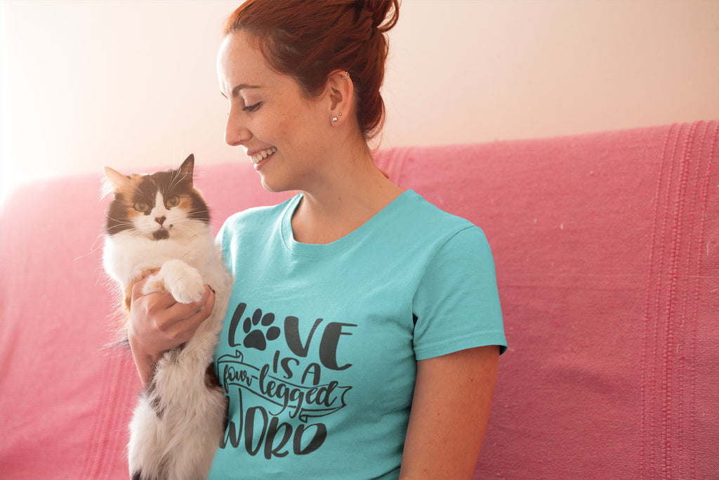 Love is a Four Legged Word - Women's Triblend Tshirt