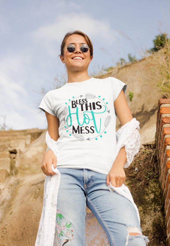 Bless This Hot Mess - Women's Triblend T