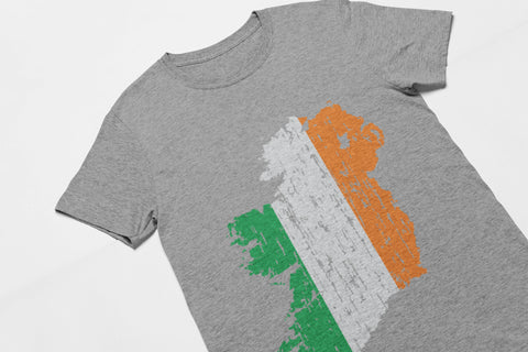 Distressed Ireland Map - Men's Triblend Tshirt