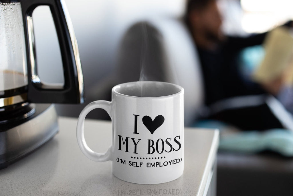 I Heart My Boss Mug, Entrepreneur Coffee Mug
