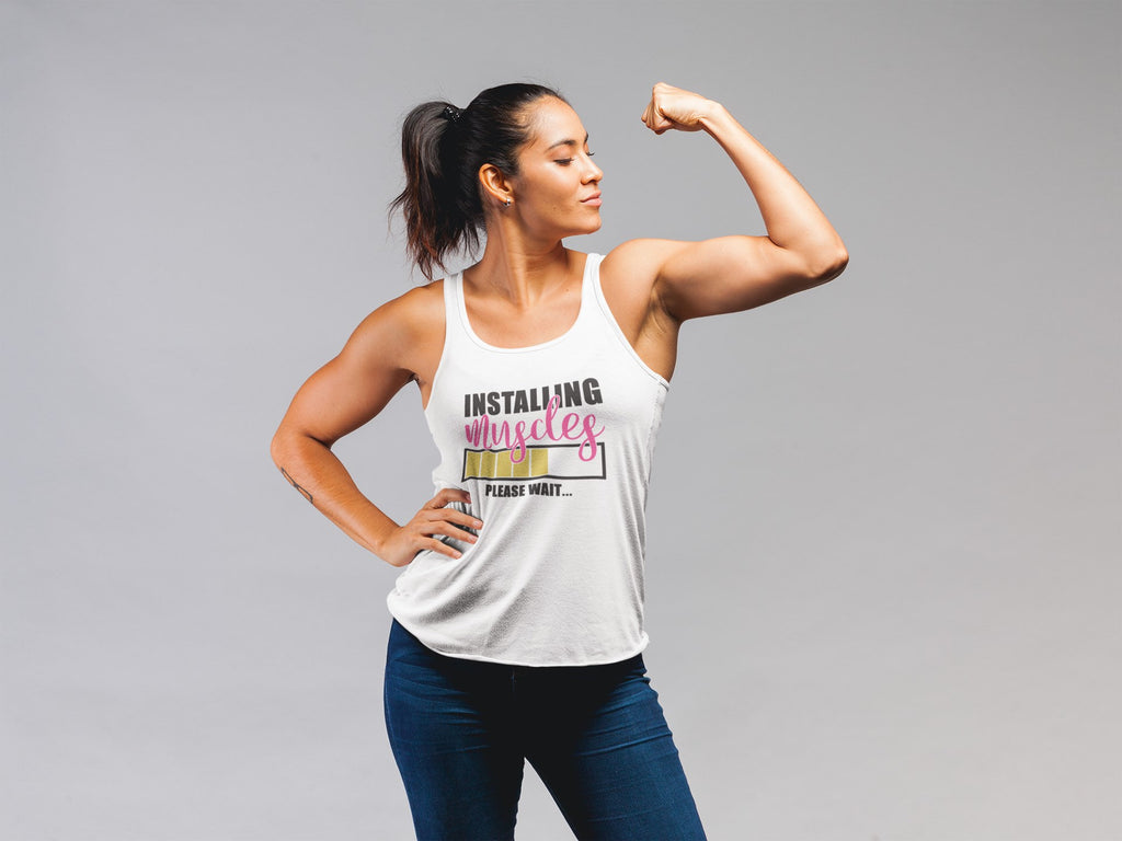 Installing Muscles Please Wait - Women's Triblend Tank